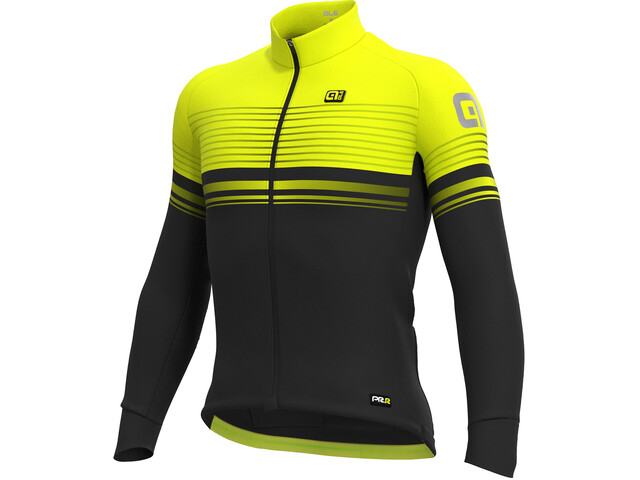 Alé Cycling Graphics PRR Slide Micro Maillot Hombre, black-fluo yellow